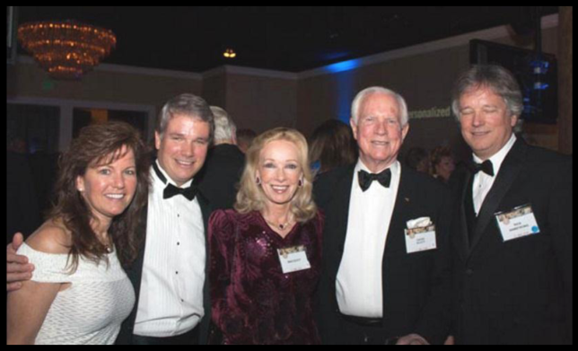 Wendy Armstrong, Mark Armstrong, Mag Scott, Apollo XV Commander, David Scott and Rick Armstrong. (Photography courtesy of Steve Shapiro/Kiddie Hawk Air Academy.)